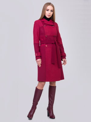 Пальто кольору стиглої вишні | 5179997