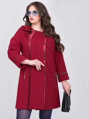 Пальто вишневого кольору | 5179985