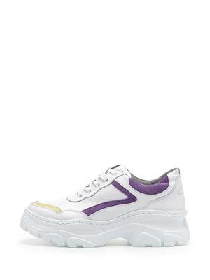 Кеды бело-фиолетовые | 5180876