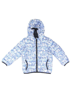 Куртка голубая в принт | 5182872