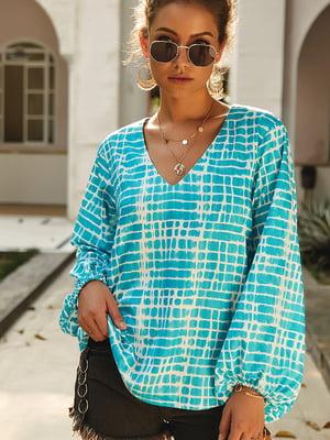 Блуза сине-белая   5183013