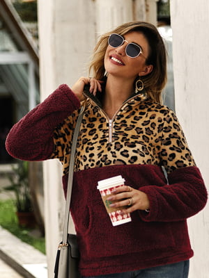 Пуловер бордовий | 5183047