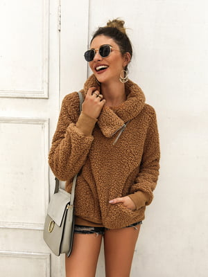 Пуловер кольору хакі | 5183058