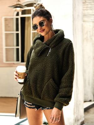 Пуловер темно-зелений | 5183060