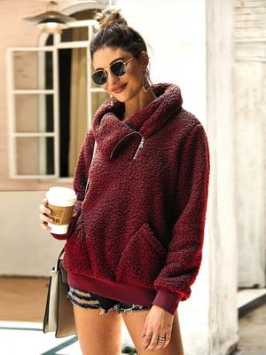 Пуловер бордовий | 5183062