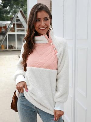 Пуловер біло-рожевий | 5183081