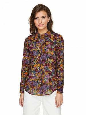 Рубашка в цветочный принт   5149941