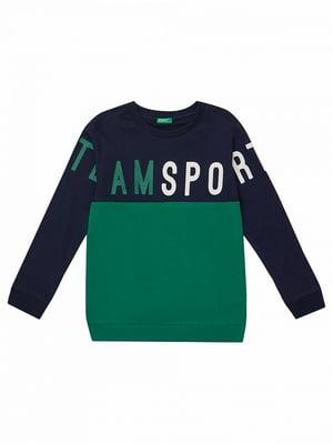 Джемпер сине-зеленое | 5151117