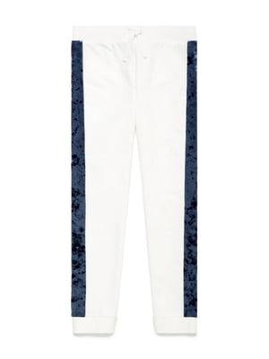 Брюки бело-синие | 5150994