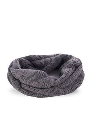 Шарф-снуд светло-серый | 5184352