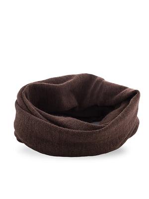 Шарф-снуд коричневый | 5184364