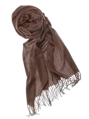 Шаль коричневая | 5184555