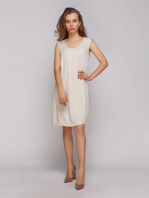 Платье бежевое | 4560089