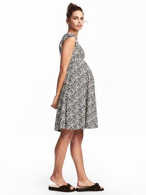 Платье белое в принт   5185265