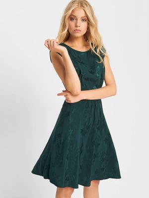 Платье зеленое с узором | 5187091