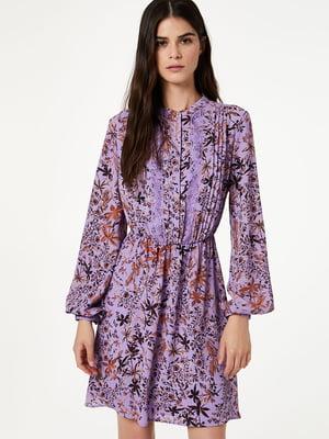 Платье сиреневого цвета в принт | 5181377