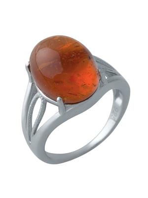 Женское серебряное кольцо с янтарем | 5189492