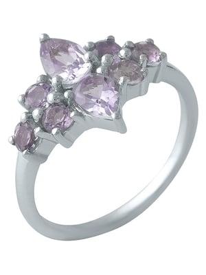 Женское серебряное кольцо с аметистами | 5191283
