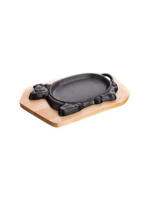 Сковорода чугунная на подставке (27х17 см) | 5177597