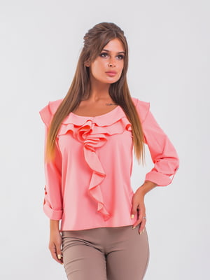 Блуза кольору пудри | 5193961