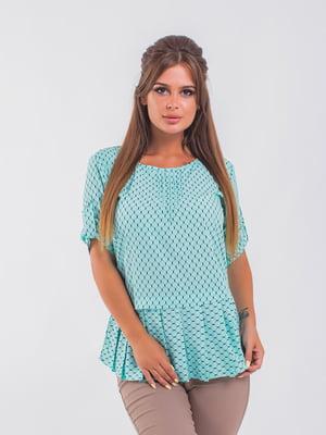 Блуза ментолового цвета | 5193964