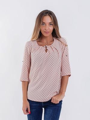 Блуза кольору пудри | 5194003