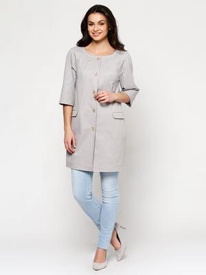 Пальто світло-сіре | 5194177