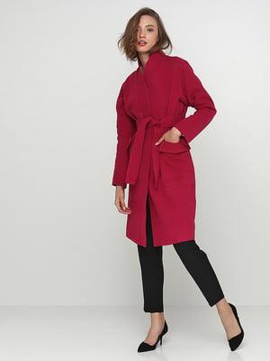 Пальто малинового кольору | 5194182
