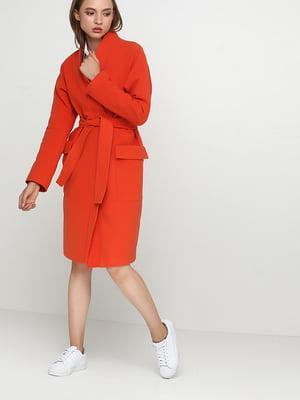Пальто теракотового кольору | 5194183