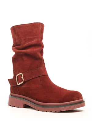 Ботинки цвета марсала | 5169331