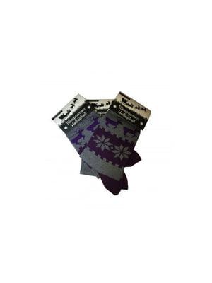 Носки серые в принт | 5194048
