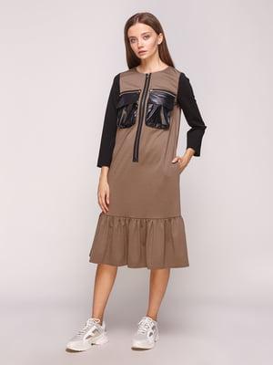 Сукня кавового кольору | 5168218