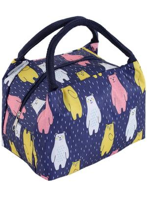 Термо-сумка синяя в принт   5195025