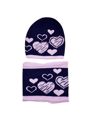 Комплект: шапка і шарф-снуд   5196236
