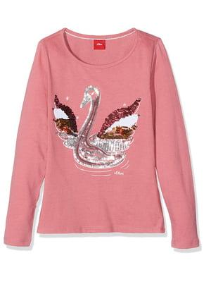 Лонгслів рожевий | 5196020
