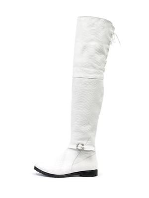 Ботфорты белые   5186156