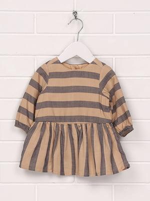 Сукня коричнева в смужку | 5196613