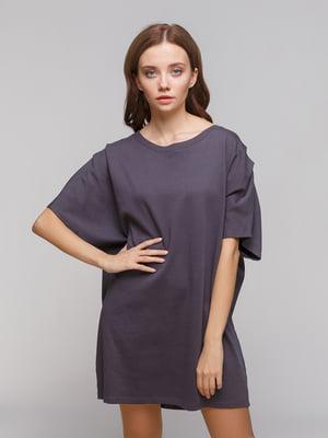 Платье графитового цвета | 4873848