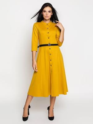 Платье горчичного цвета | 5197867