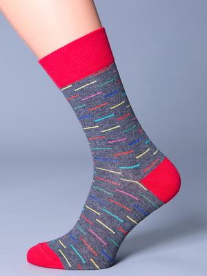Носки серо-красные | 5198242