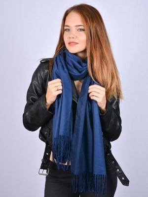 Палантин темно-синій | 5201023