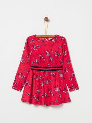 Платье красное в принт | 5166658