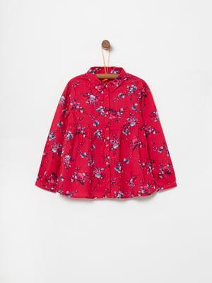Рубашка красная в принт   5166663