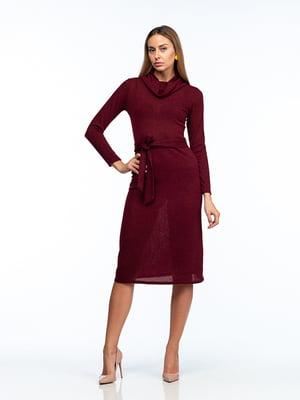 Платье бордовое   5202067