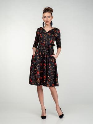 Сукня чорно-коралова | 5202078