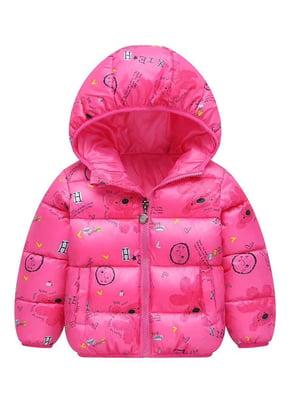Куртка рожева з принтом | 5202856