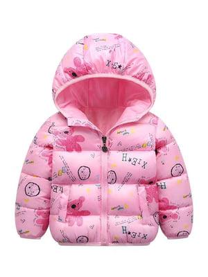 Куртка светло-розовая с принтом | 5202857