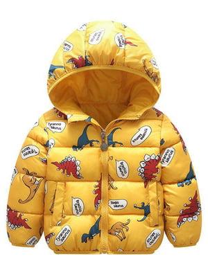 Куртка желтая с принтом | 5202858