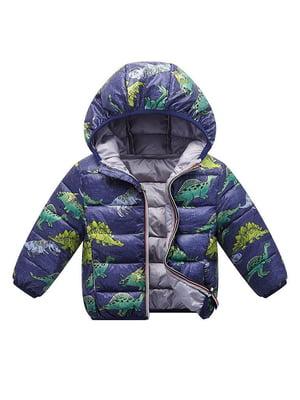 Куртка синяя с принтом | 5202863