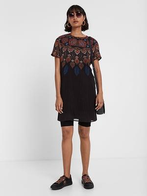 Сукня чорна в принт   5170153